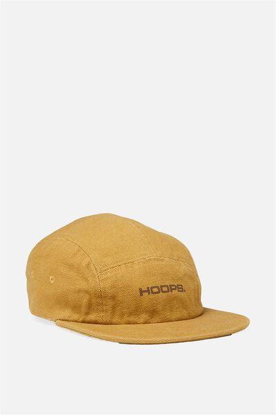 5 Panel Cap, BUCKSKIN GOLD/HOOPS