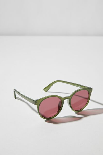 Clifton Sunglasses, GREEN/RED