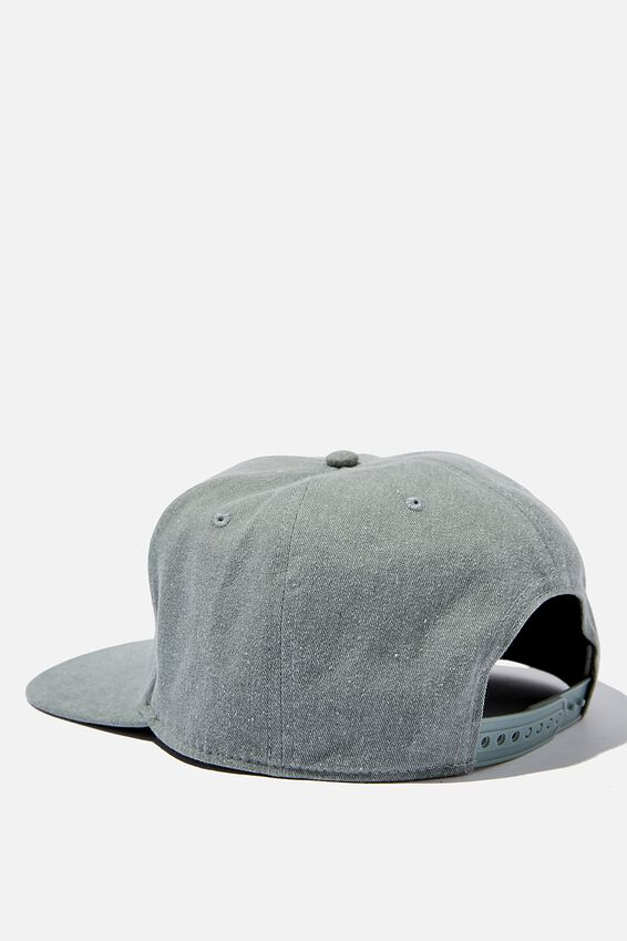 Snapback, WASHED GREEN/NY-LA BOX LOGO