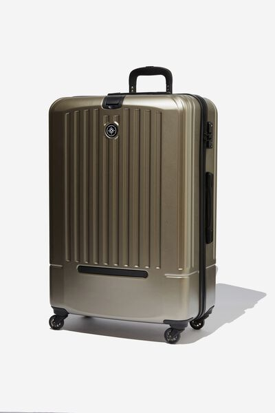 Lrg 28Inch Hard Suitcase, GREY METALLIC