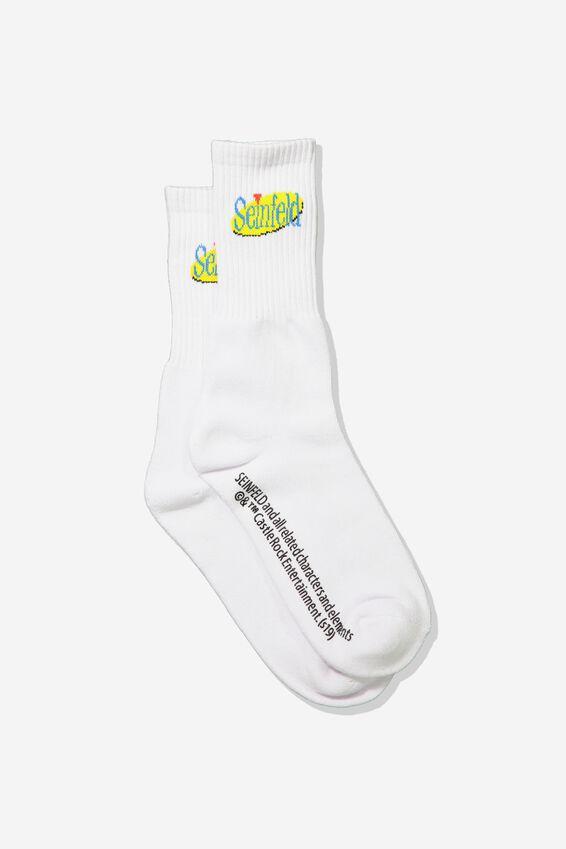 Single Pack Active Socks, LC WHITE/SEINFELD