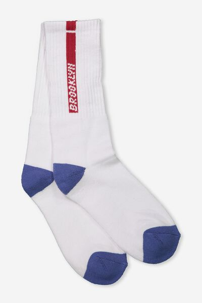 Single Pack Active Socks, BROOKLYN STRIPE/WHITE