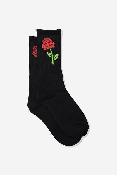 Single Pack Active Socks, BLACK/PARLOUR