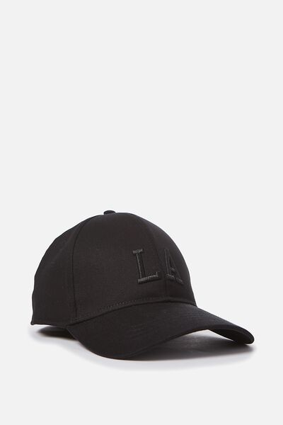 Outfield Fitted Cap, BLACK/LA