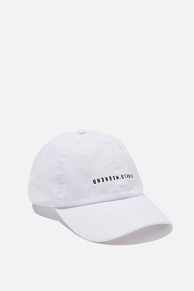 Strap Back Dad Hat, WHITE/WEEKEND STUDIO