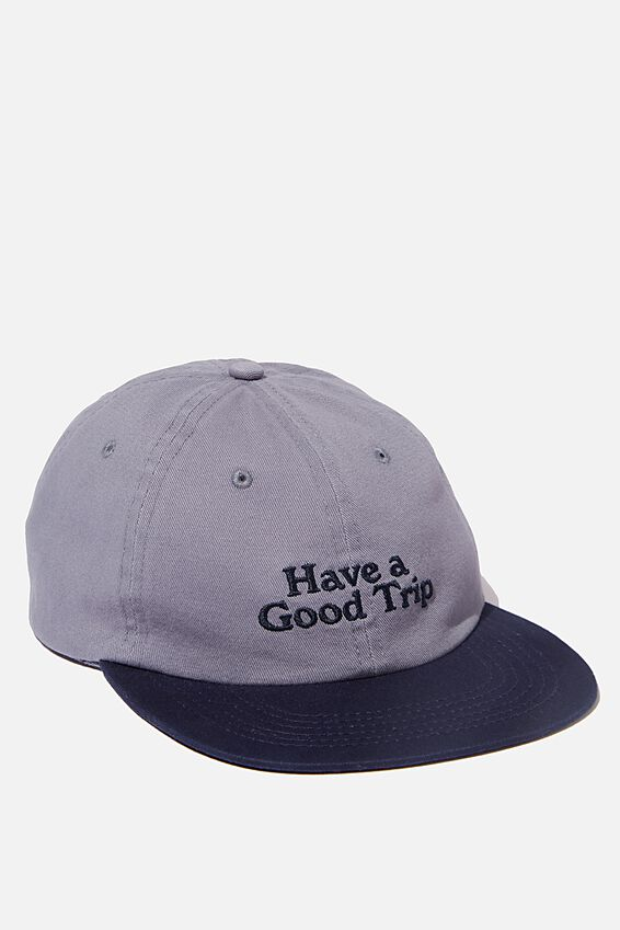 6 Panel Hat, NAVY/GOOD TRIP