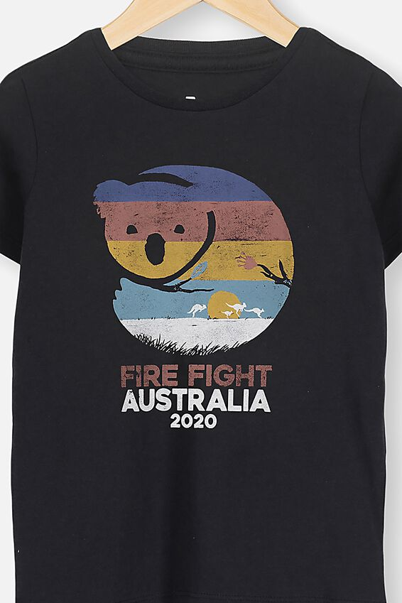 Kids Fire Fight Festival Tee, BLACK