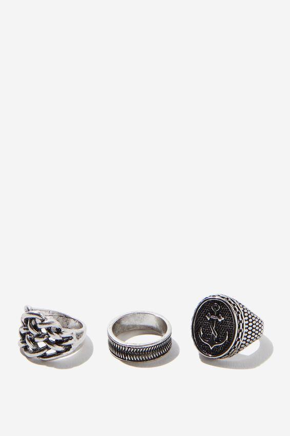 Rings 3 Pack, SILVER 4