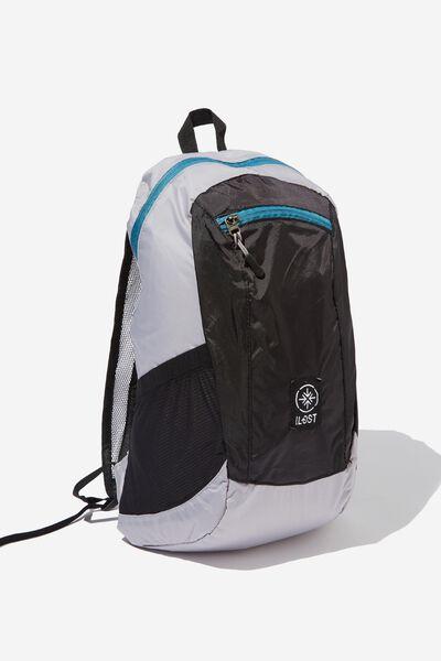 Packable Daypack, BLACK GREY