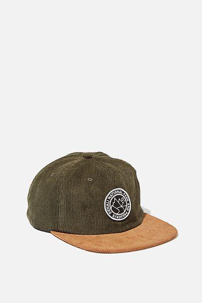 6 Panel Hat, KHAKI/CAMEL CORDUROY/DENALI