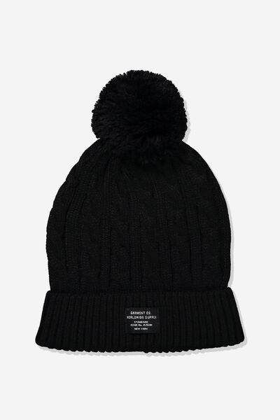 Alaska Beanie, BLACK/WORLDWIDE SUPPLY