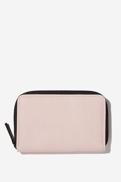 Small Zip Wallet, BLUSH