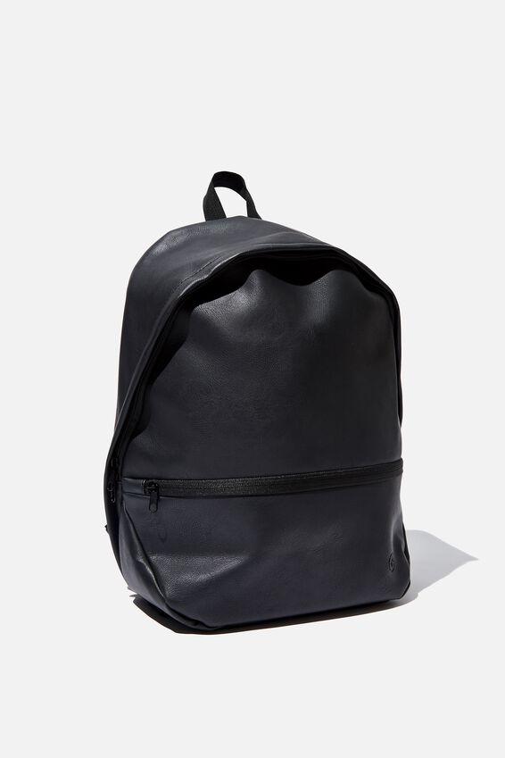 Premium Transit Backpack, BLACK PU