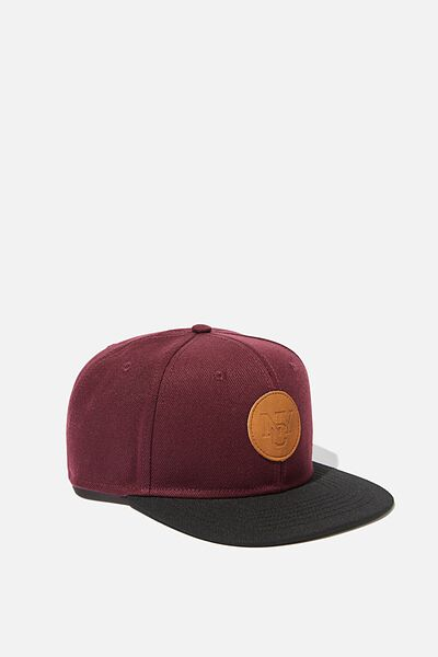 Snapback, WINE BLACK NYC PATCH
