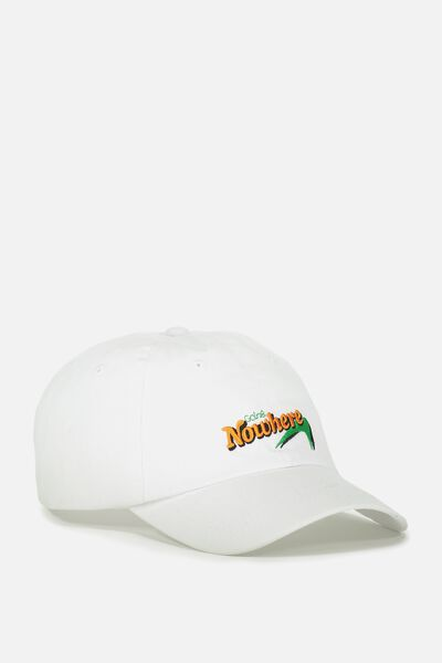 Strap Back Dad Hat, WHITE/GOING NOWHERE