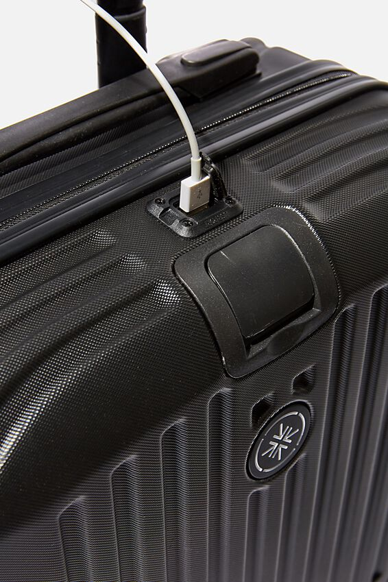 Sml 19Inch Hard Suitcase, BLACK