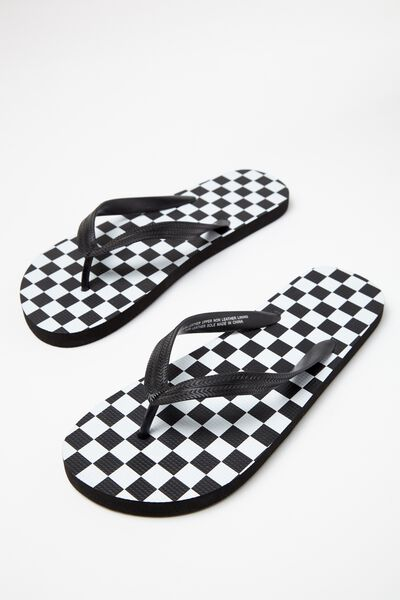 Bondi Flip Flop, BLACK/WHITE CHECKER