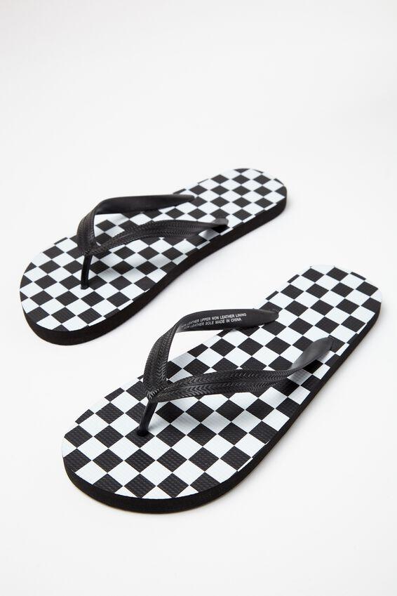 Bondi Flip Flop, BLACK/WHITE CHECKER