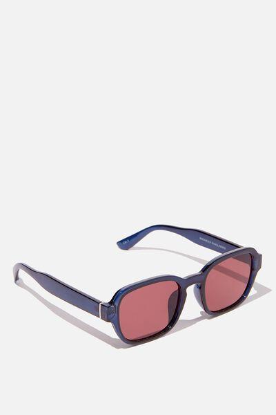 Breamlea Sunglasses, BLUE/RED