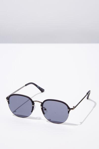 Sacramento Sunglasses, MATTE BLACK/SMK