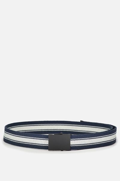 Portland Web Belt, NAVY/STRIPE