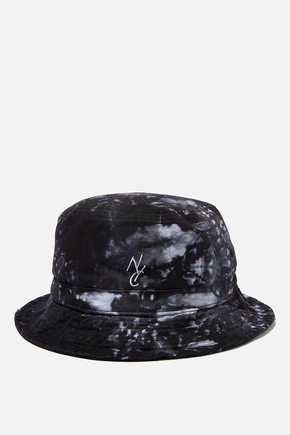 Bucket Hat, BLACK/WHITE/TIE DYE/NYC LINK