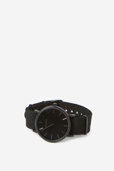 Columbia Watch, WOVEN BLACK/MATTE BLACK