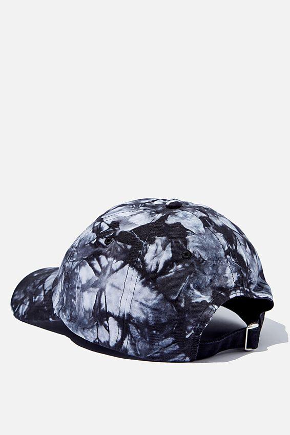 Strap Back Dad Hat, BLACK/WHITE/TIE DYE/NYC LINK