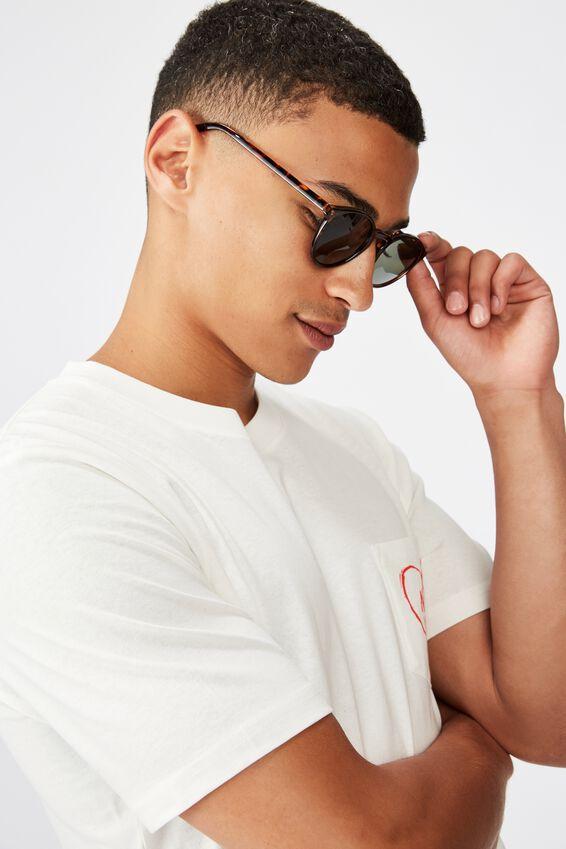 Lorne Sunglasses, TORT/GREEN