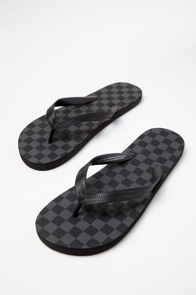 Bondi Flip Flop, BLACK/CHARCOAL CHECKER