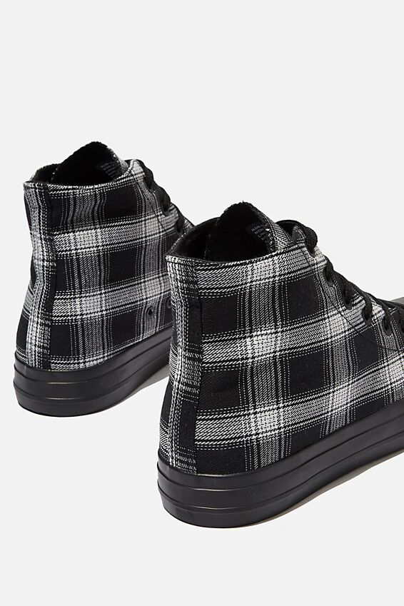 Tyler Hi-Top, BLACK/GREY PLAID