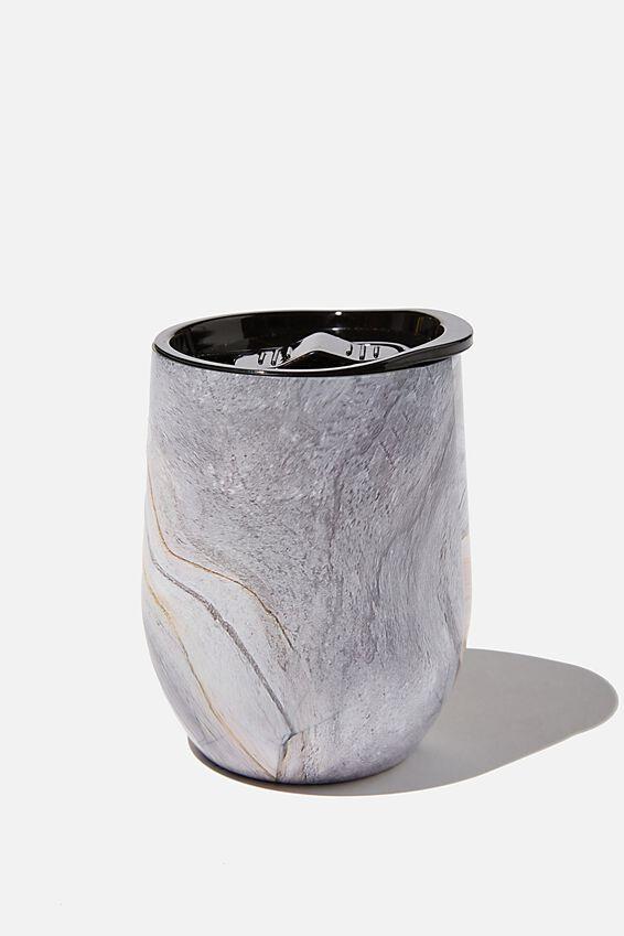 Medium Metal Tumbler, BLUSH MARBLE