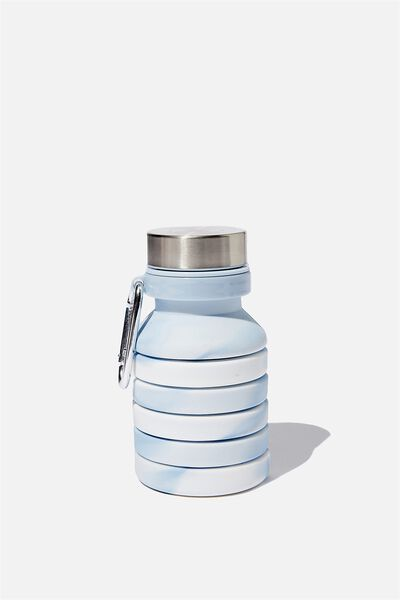 Collapsible Drink Bottle, BLUE MARBLE