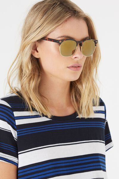 Rhode Sunnies, TORT/GOLD SMOKE