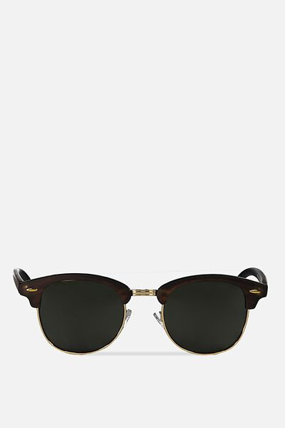 Smooth Operator Sunnies, BLACK WOOD/GREEN