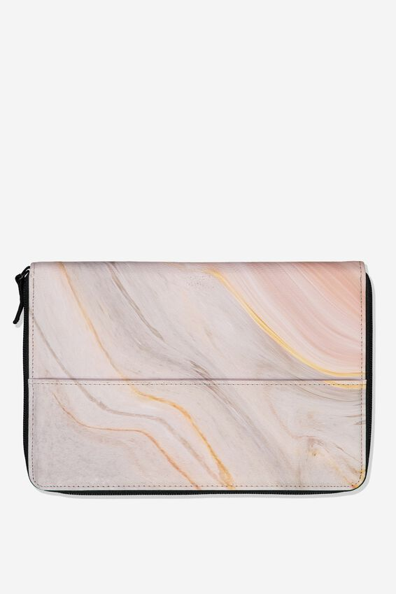 Family Travel Wallet, BLUSH MARBLE