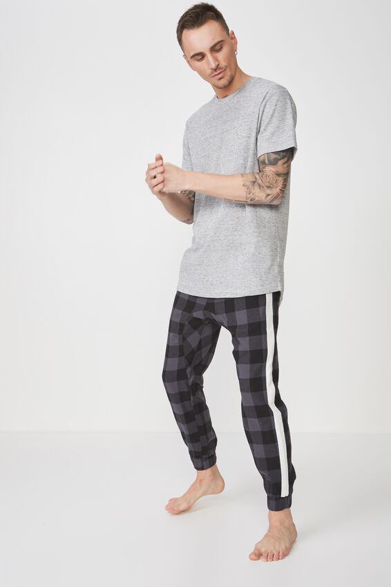 Pj Drake, BLACK/GREY CHECK/WHITE STRIPE