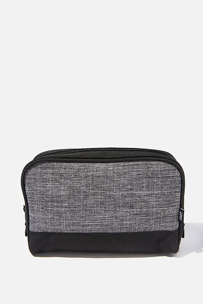 Transit Cos Bag, BLACK/GREY CROSSHATCH