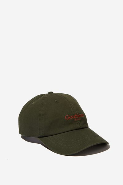 898bbd4f4e2ca Strap Back Dad Hat, FOREST GREEN/GOODTIMES