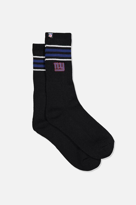 Single Pack Active Socks, LCN NFL BLACK/BLUE/NY GIANTS