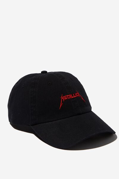 Strap Back Dad Hat, LC BLACK/RED/METALLICA
