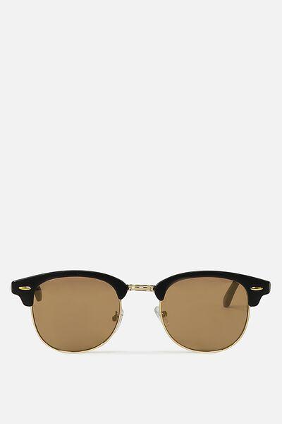 Smooth Operator Sunglasses, BLACK/GOLD/FLAT GOLD