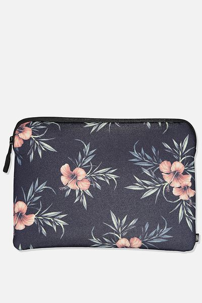 13 Inch Laptop Sleeve, HIBISCUS FLORAL