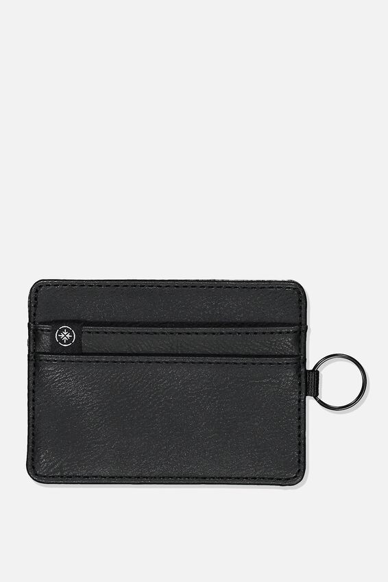 Personalised Premium Card Wallet, BLACK PU