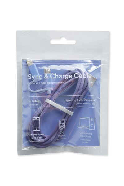 2 In 1 Charge/Sync Cable, PERSIAN JEWEL