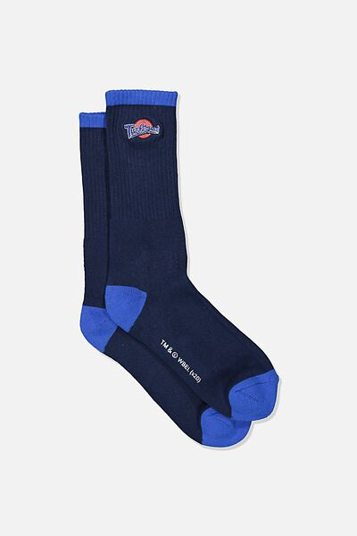 Single Pack Active Socks, LCN WB NAVY/BLUE TUNE SQUAD