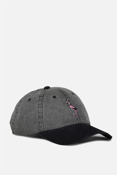 Strap Back Dad Hat, BLACK/HIGH SOCIETY