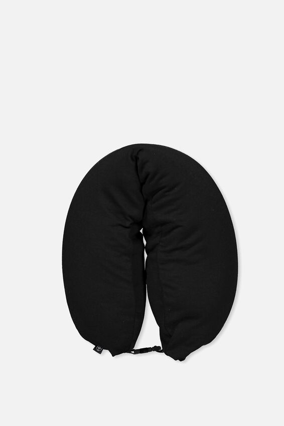 Neck Pillow With Hood, BLACK