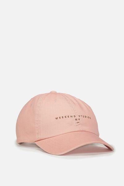 Strap Back Dad Hat, PINK/WEEKEND STUDIOS