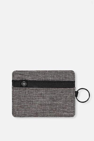 Card Wallet, GREY CROSSHATCH